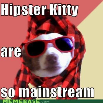 Hipster kitty become so mainstream