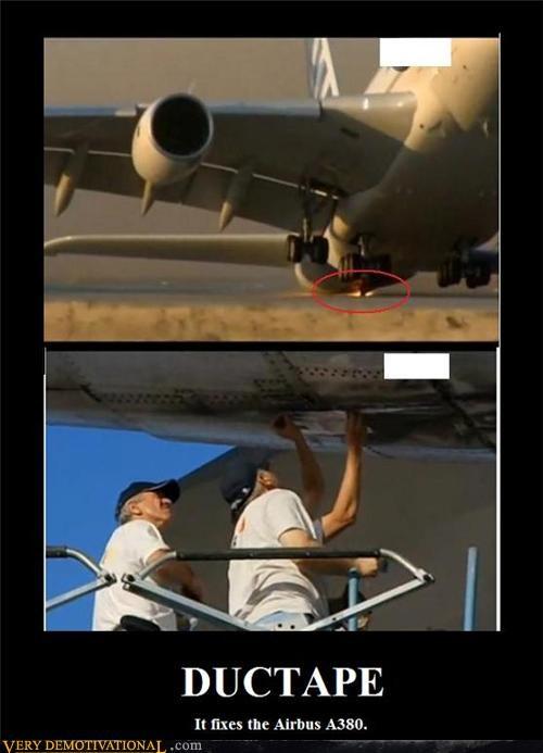 duct tape,air bus,nasa,fix