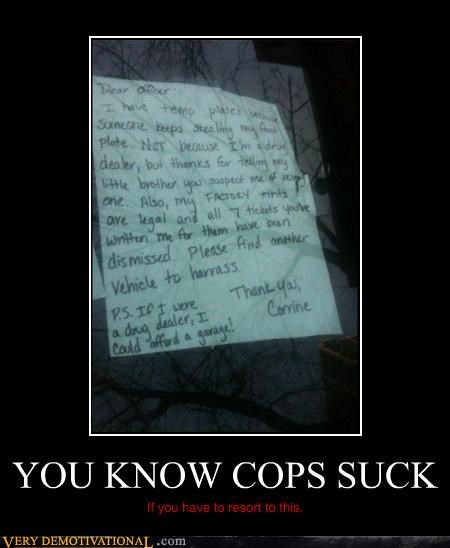YOU KNOW COPS SUCK