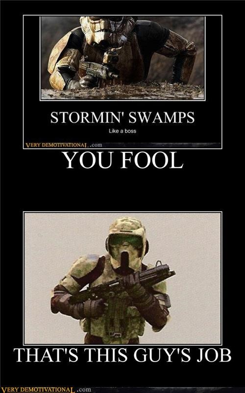 star wars,stormtrooper,swamp,wrong
