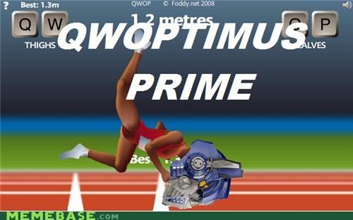 more than meets the eye,optimus prime,QWOP,transformer