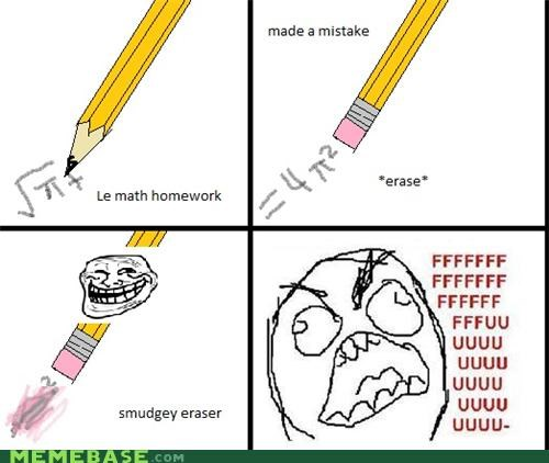 eraser,homework,math,troll face,unclean