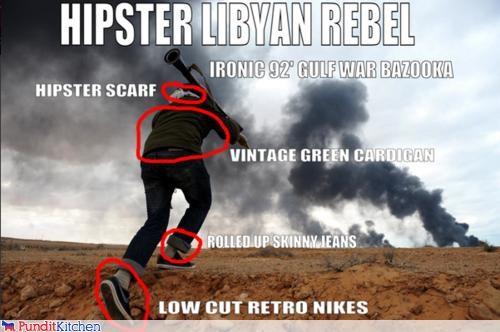 hipsters,libya,muammar al-gaddafi,rebels,riots