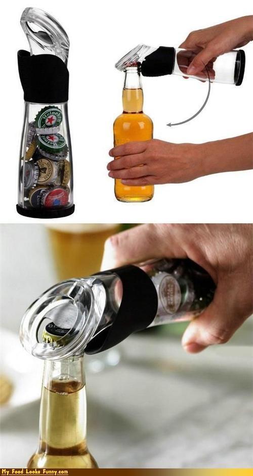 beer,bottle caps,bottle opener,container,garbage,storage