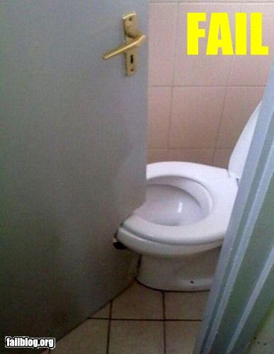 Bathroom Door FAIL