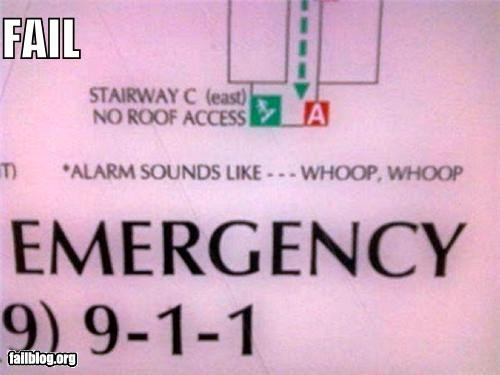 Emergency Sign FAIL