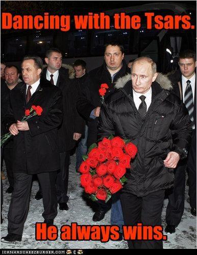 dance,dancing,Dancing With The Stars,flowers,russia,Vladimir Putin,vladurday