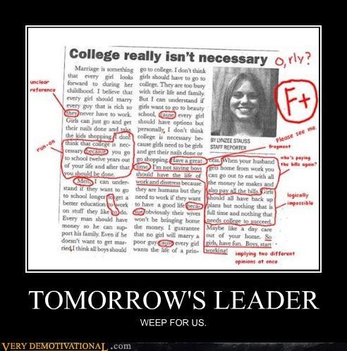 college,f,grammar,idiots,tomorrow