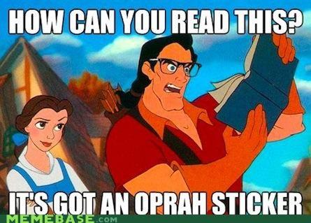 belle,book club,Gaston,hipster-disney-friends,oprah