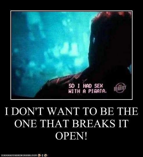 I DON'T WANT TO BE THE ONE THAT BREAKS IT OPEN!