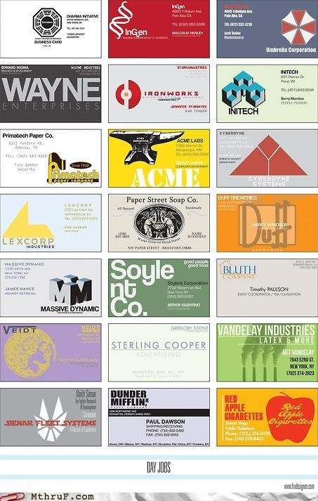 batman,business card,movies,Office Space,simpsons,watermark