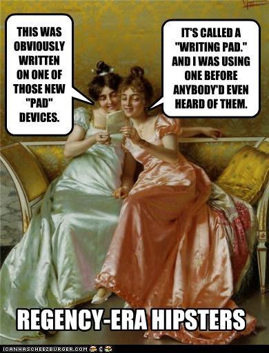 kilt, Regency, England, meme, funny, humor, cravat, romance writer, romance novel, Jane Austen, Mr. Darcy