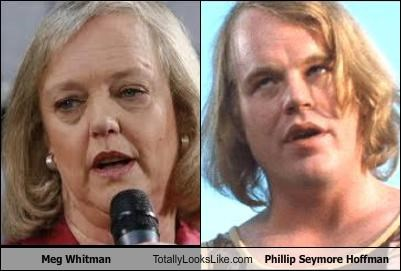 actors,hair,meg whitman,philip seymore hoffman,politicians