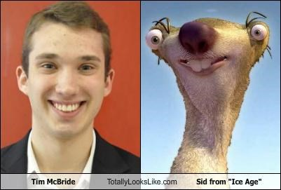"Tim McBride Totally Looks Like Sid from ""Ice Age"""