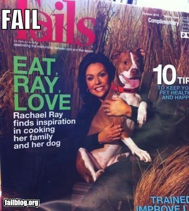 celeb,chefs,commas,E-V-O-No,failboat,food,g rated,magazines,pets,Rachel Ray