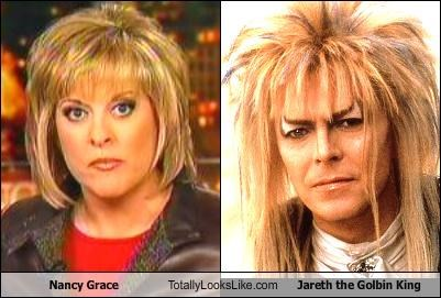 Nancy Grace Totally Looks Like Jareth the Golbin King
