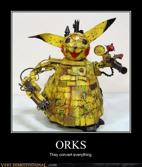 orc,pikachu,robot,warhammer