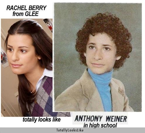 actors,Anthony Weiner,glee,Lea Michele,politicians