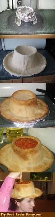 bowl,bread,chip,edible,hat,salsa