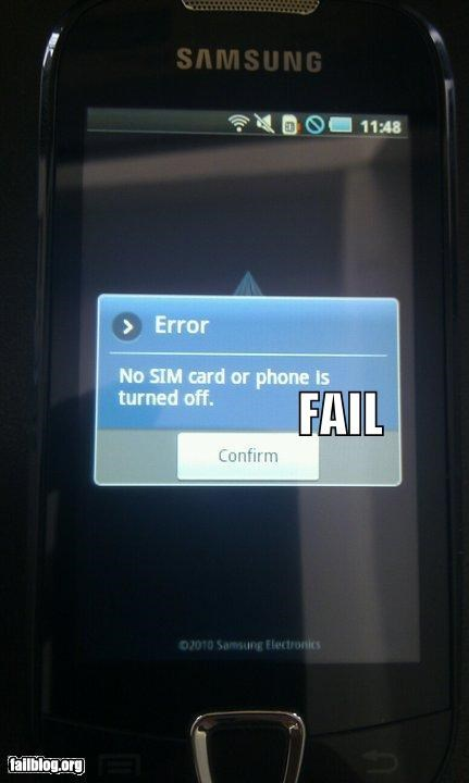 Error Possibilities FAIL
