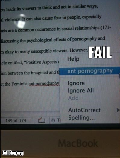 Spell Check Suggestion FAIL