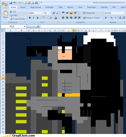 batman,excel,gotham,graphjam city,night skyline,spreadsheet,windows