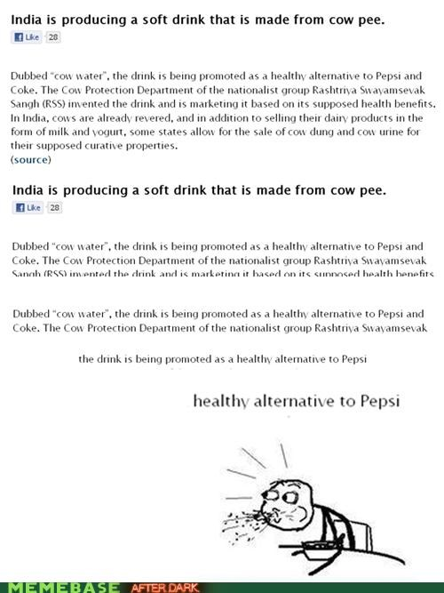 cow urine,healthy,india,soda