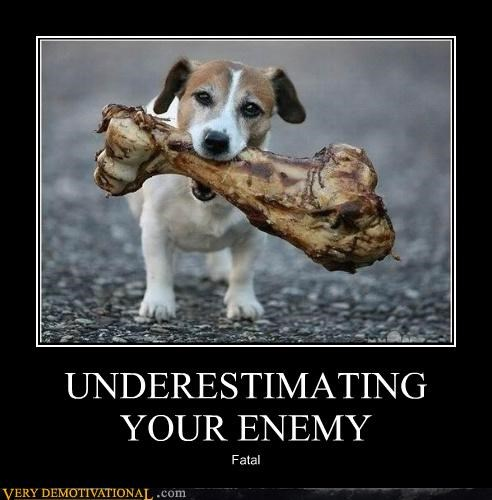 UNDERESTIMATING YOUR ENEMY