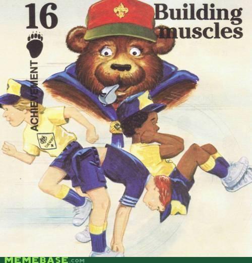 boy scouts,building muscles,cub scouts