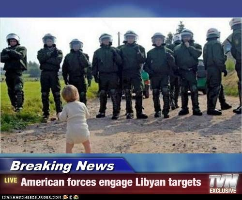 Breaking News - American forces engage Libyan targets