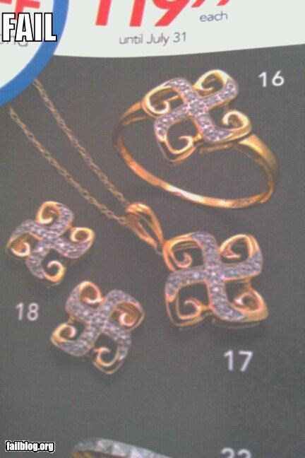 design,failboat,Jewelry,oops,shape,swastikas