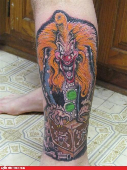 clowns,creepy,tattoos,funny