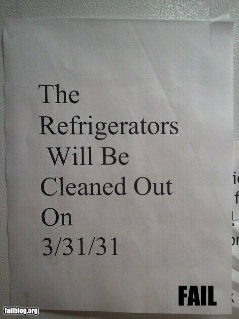Refrigerator Cleaning Fail