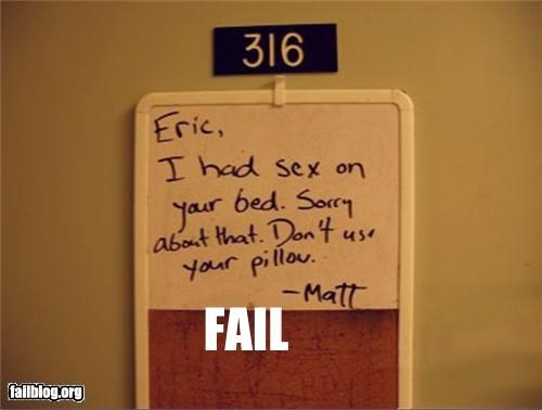 Roommate FAIL