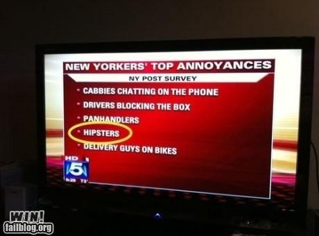 completely relevant news,hipsters,new york city,news,nyc,survey says