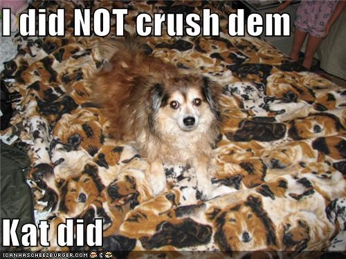 I did NOT crush dem  Kat did