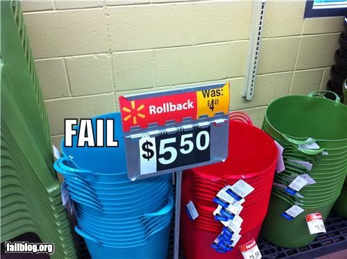 Pricing FAILS