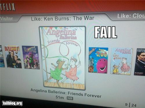 cartoons,failboat,g rated,movies,netflix,recommendations,war