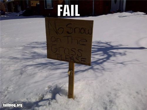 failboat,front yard,g rated,sign,snow,weather,winter