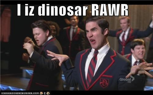 dinosaur,glee,Movies and Telederp,television,tv show