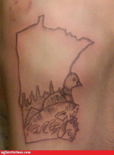 Minnesota,tattoos,fish,states,funny