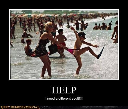 adult,beach,help,kids