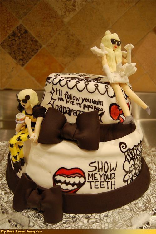 birthday,cake,costume,fondant,gaga,lyrics