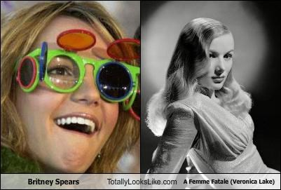 Britney Spears Totally Looks Like A Femme Fatale (Veronica Lake)