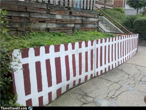 American dream,cardboard,Close Enough,fence