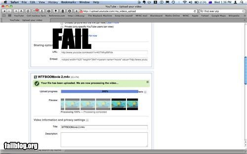 Youtube fail!