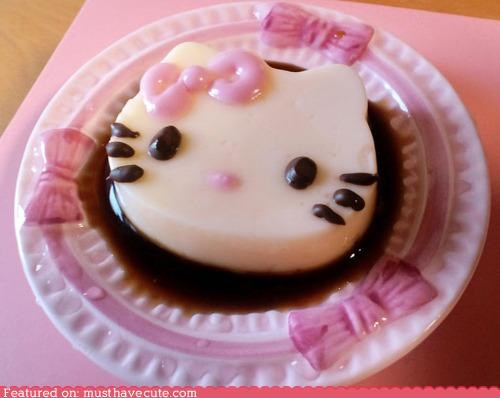 dessert,epicute,hello kitty,pink,pudding