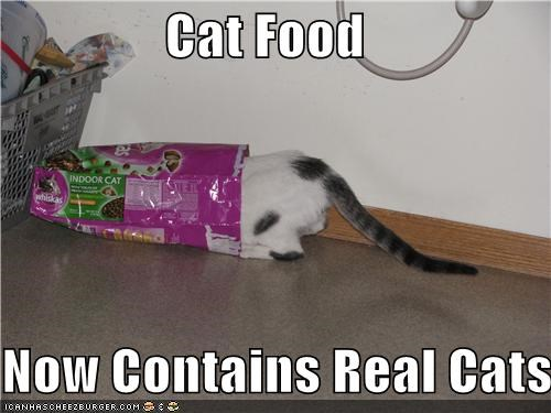 Cat Food  Now Contains Real Cats