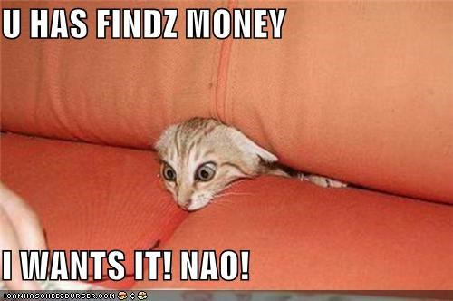 U HAS FINDZ MONEY  I WANTS IT! NAO!