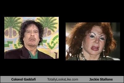 Colonel Gaddafi Totally Looks Like Jackie Stallone